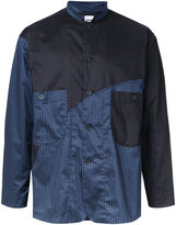 Factotum contrast striped shirt - men - Polyester/Polyurethane - 44