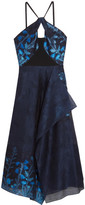 Roland Mouret Marshall Cady-paneled Fil Coupé Organza Midi Dress - UK16