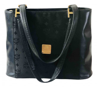MCM Navy Leather Handbags
