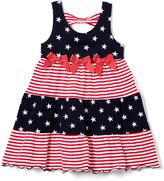 Good Lad Red Stars & Stripes A-Line Dress - Infant Toddler & Girls