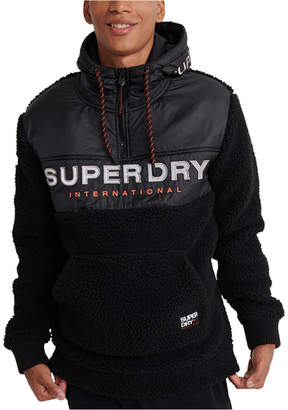 Superdry Men Sherpa Worldwide Stealth Half Zip Hoodie