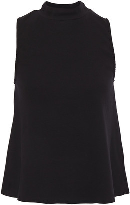 Stateside Fluted Stretch-cotton Jersey Turtleneck Top
