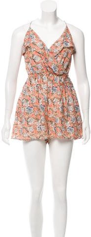 Zimmermann Sleeveless Silk Floral Romper