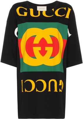 Gucci oversized logo print T-shirt