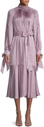 Tibi Pleated Midi Dress
