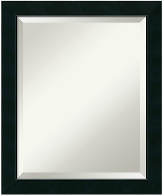 Amanti Art Satin Black Medium Wall Mirror