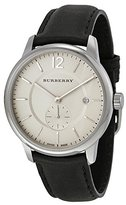 Burberry Classic Round Beige Dial Leather Mens Watch BU10000