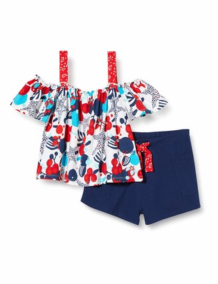 Tuc Tuc Blue Printed Jersey T-Shirt and Shorts Set for Girl Lost Ocean