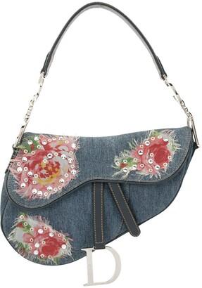 Christian Dior pre-owned floral Saddle bag