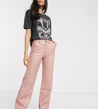 Wild Honey wide leg trousers in faux leather