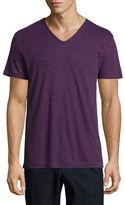 Vince Short-Sleeve V-Neck Linen T-Shirt