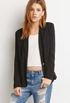 Forever 21 FOREVER 21+ Contemporary Single-Button Knit Blazer