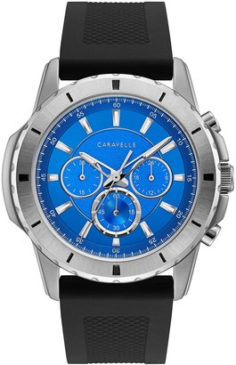 Caravelle by Bulova Men's Chronograph Silicone Strap Watch
