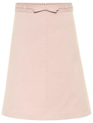 RED Valentino Cotton-blend midi skirt