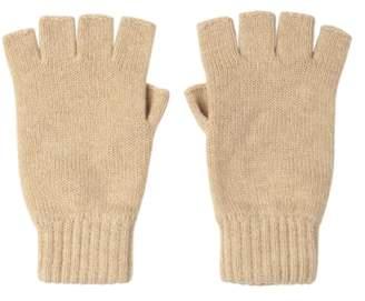 Johnstons of Elgin Natural Fingerless Cashmere Gloves