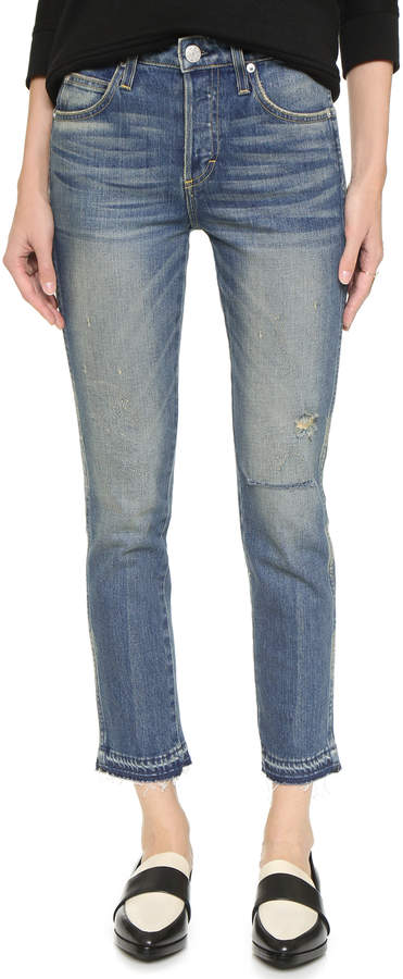 Amo Babe High Rise Cropped Slim Jeans