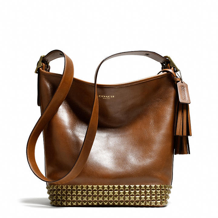 Coach Legacy Archival Duffle In Studded Leather
