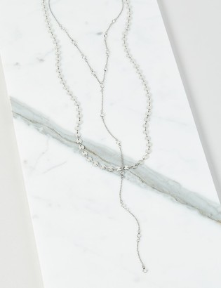 Lane Bryant Layered Disc & Faceted Stone Y-Necklace