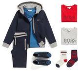 HUGO BOSS Kids' hooded sweatshirt jacket in stretch cotton: 'J25P02'