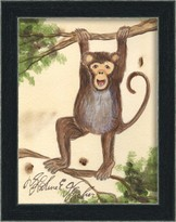The Well Appointed House Monkey Framed Wall Art for Kids