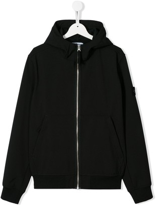 Stone Island Junior TEEN logo patch hoodie