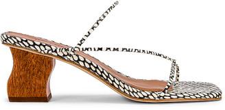 REJINA PYO Wave Harley Sandal in Polka Snake Black & White | FWRD