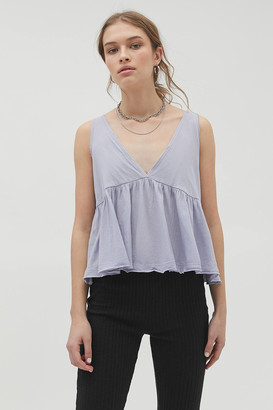Urban Outfitters Cali Plunging Babydoll Cami