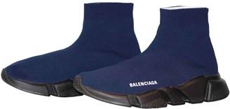 Balenciaga Speed Blue Cloth Trainers