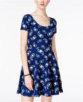 Planet Gold Juniors' Hazel Paisley-Print Fit & Flare Dress
