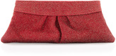 Lauren Merkin Eve Encrusted-Glass Clutch, Red/Gold