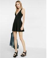 Express Deep V Skort Skater Dress