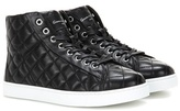 Gianvito Rossi High Driver quilted leather sneakers