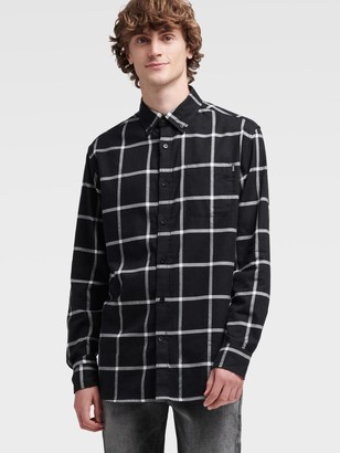 DKNY Windowpane Check Shirt