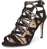 Dorothy Perkins Black And Gold 'Stunned' Heel Sandals