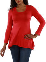 24/7 Comfort Apparel Scoop Neck Tunic Top
