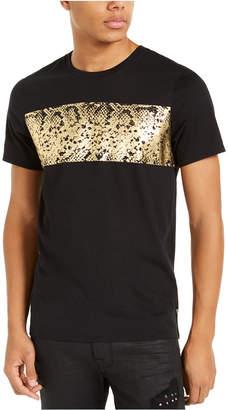 GUESS Men Gold Snakeskin Graphic T-Shirt