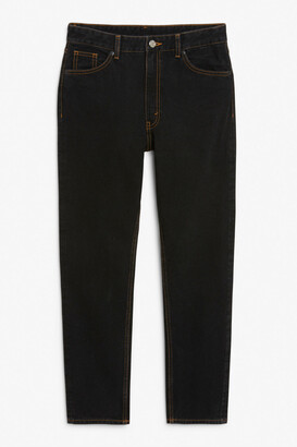 Monki Kimomo contrast stitch jeans