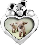 GiftJewelryShop Baby Lambs White Crystal April Birthstone I Love You Heart Care Bear Charm Beads Bracelets