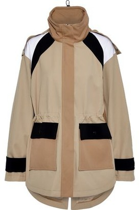 ADAM by Adam Lippes Color-block Twill Hooded Jacket