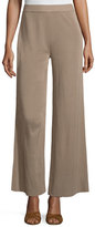 Misook Demi Palazzo Pants, Light Brown, Petite