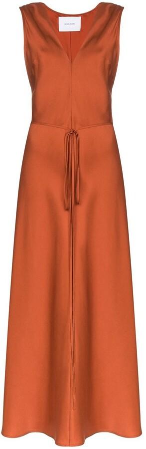 BONDI BORN Belted Maxi Dress