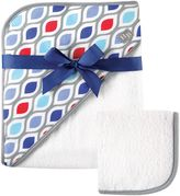 Baby Vision Hudson Baby® Hooded Towel and Washcloth Set in Blue and Grey