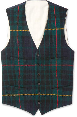 Polo Ralph Lauren Slim-Fit Checked Wool Waistcoat