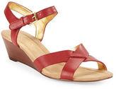 Lauren Ralph Lauren Laurissa Nappa Leather Wedge Sandals