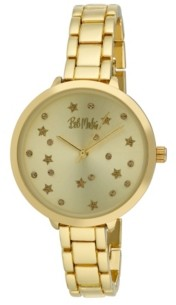 Bob Mackie Women's Gold-Tone Alloy Bracelet Link Watch, 36mm