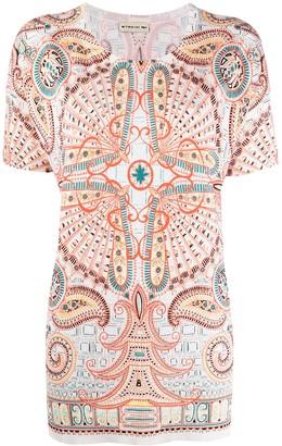 Etro Paisley-Print Knit Top