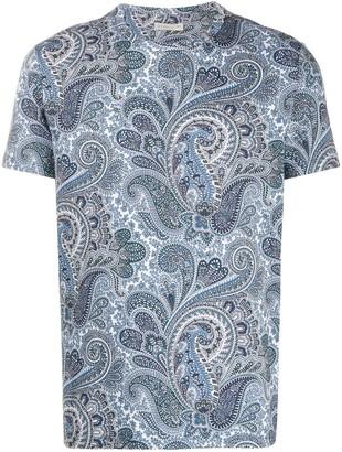 Etro paisley-print short-sleeve T-shirt