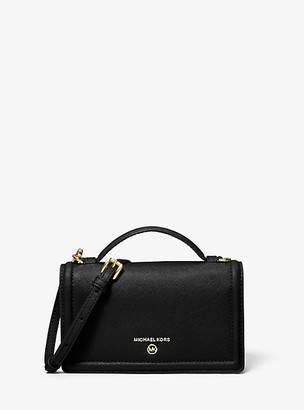Michael Kors Jet Set Small Crossgrain Leather Smartphone Crossbody Bag