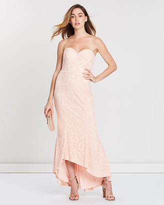 Bariano Kate Strapless Chantilly Dress