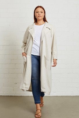 White Label Linen Cary Trench - Plus Size